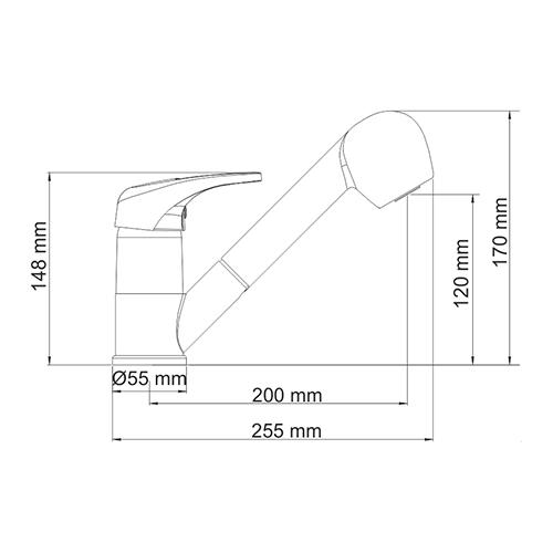 WasserKRAFT Oder 6365 Смеситель для кухни с выдвижной лейкой