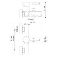 WasserKRAFT Main 4101 Смеситель для ванны с коротким изливом_2