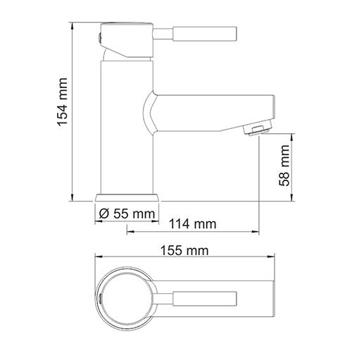 WasserKRAFT Main 4103 Смеситель для умывальника