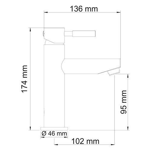 WasserKRAFT Main 4104 Смеситель для умывальника