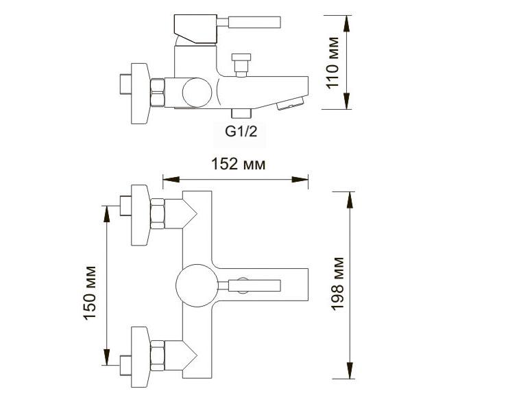 Смеситель WasserKRAFT Wern 4201 ванны с коротким изливом