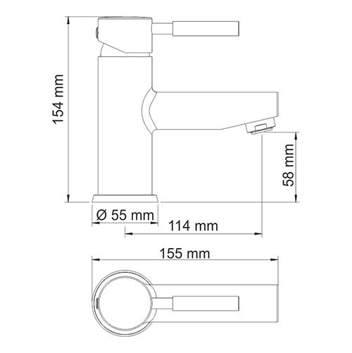 WasserKRAFT Wern 4203 Смеситель для умывальника