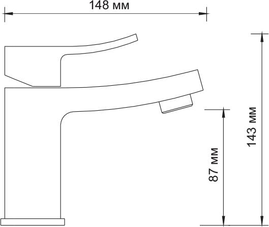 Смеситель WasserKRAFT Aller 1063 Смеситель для умывальника
