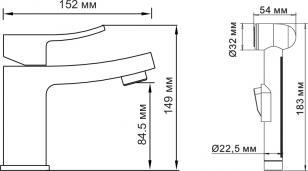 Смеситель WasserKRAFT Aller 1068 для умывальника с гигиенической лейкой_2