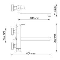 WasserKRAFT Berkel 4802L Смеситель для ванны с длинным изливом_2