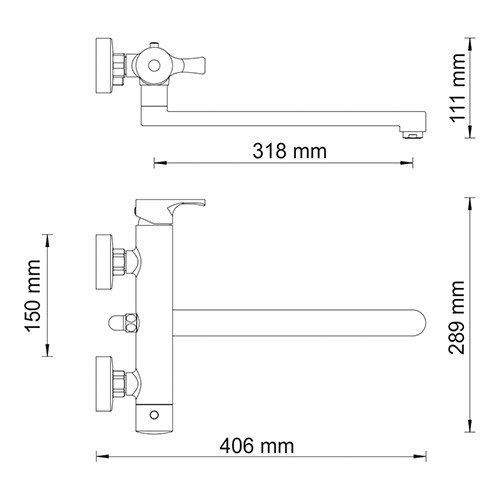WasserKRAFT Berkel 4802L Смеситель для ванны с длинным изливом