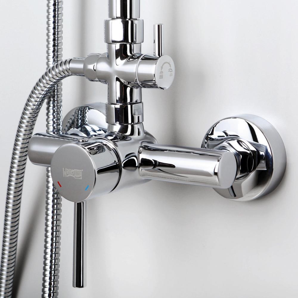 Душевой комплект WasserKRAFT со смесителем для душа 958/1328х570 мм