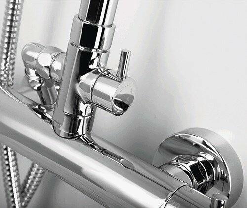 Thermo Душевой комплект WasserKRAFT A13302 с термостатическим смесителем для душа