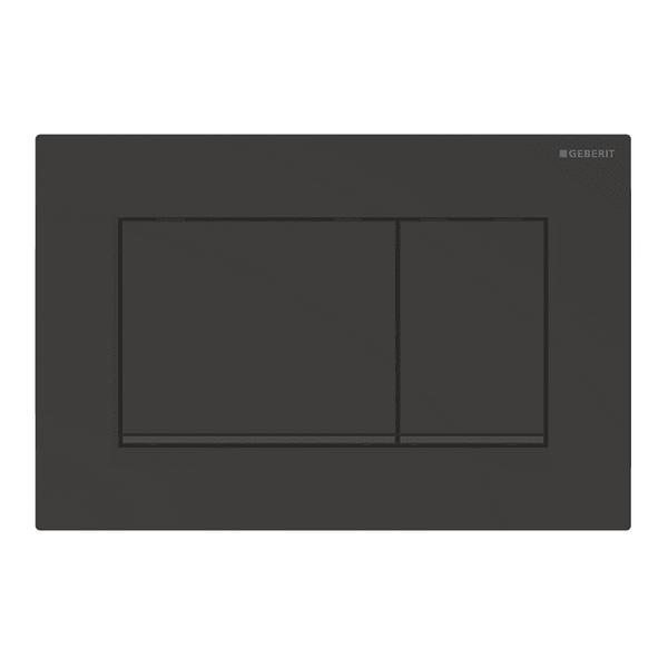 Смывная клавиша Geberit Sigma 30, двойной смыв, черный матовый лак
