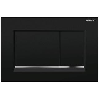 Смывная клавиша Geberit Sigma 30, пластик, черный/глянцевый хром/черный