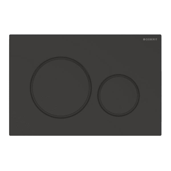 Смывная клавиша Geberit Sigma 20, двойной смыв, черный матовый лак