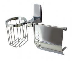 WasserKRAFT Lopau K-6059 Держатель туалетной бумаги и освежителя_0
