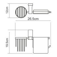 WasserKRAFT Lopau K-6059 Держатель туалетной бумаги и освежителя_2