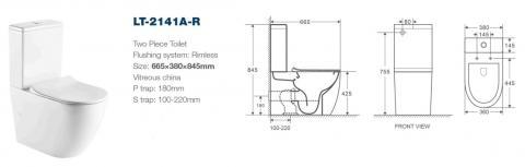 Унитаз-компакт безободковый LT-2141A-R