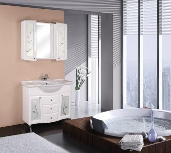 Шкаф-зеркало Onika ВАЛЕНСИЯ 95.00 Белый без подсветки 950х152х775