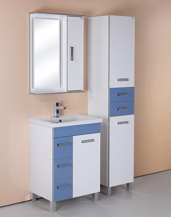 Шкаф-зеркало Onika ВЕРСАЛЬ 58.01У Белый 580х160х800