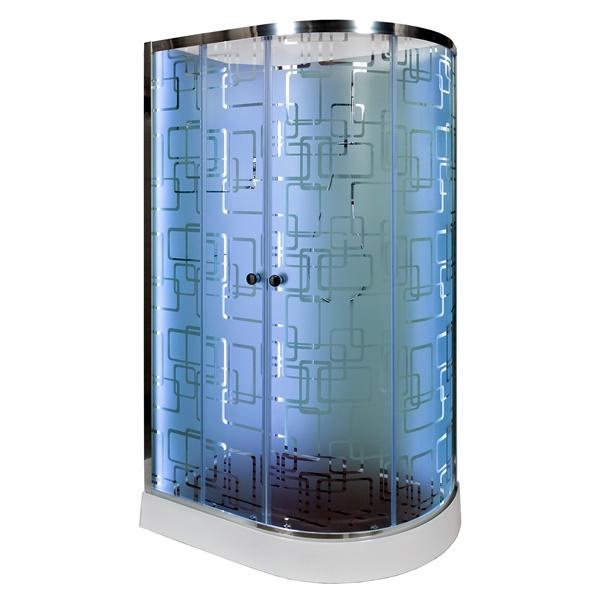Душевая кабина Deto ЕМ1512 L N LED 1200*800*2080