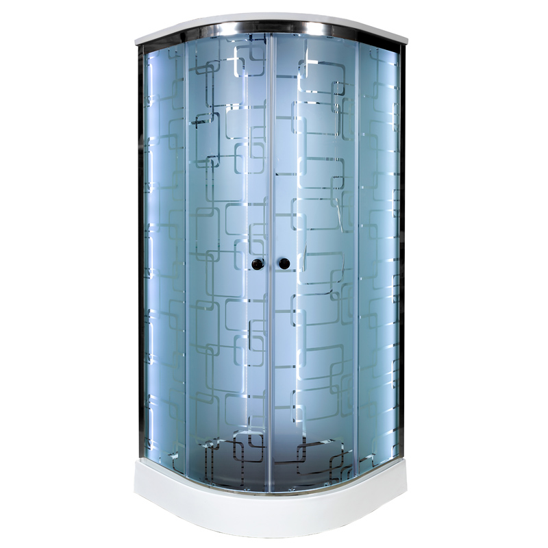 Душевая кабина Deto ЕМ1580 LED 800*800*2200