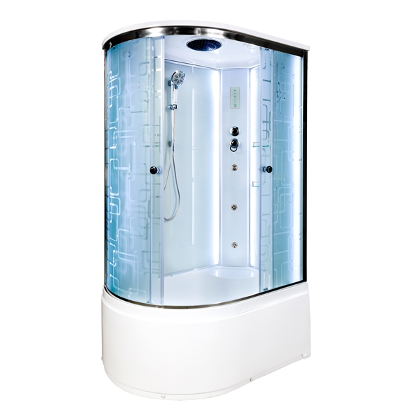 Душевая кабина Deto ЕМ4511 R LED с гм. 1100*800*2200