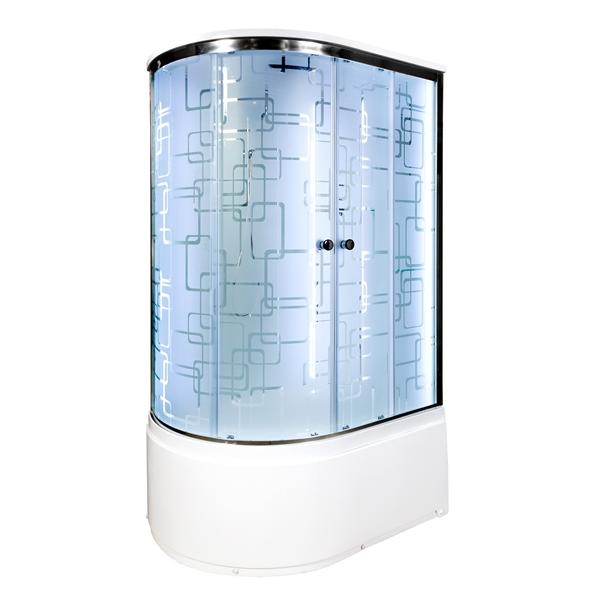 Душевая кабина Deto ЕМ4512 R LED с гм. 1200*800*2200