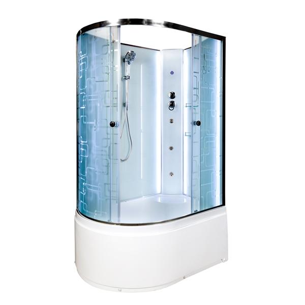 Душевая кабина Deto ЕМ4512 R N LED с гм. 1200*800*2080