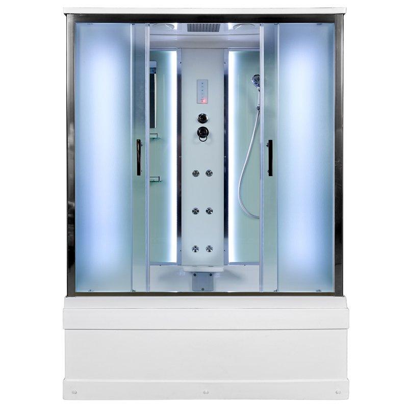 Душевая кабина Deto ЕМ4517 LED с гм. 1700*900*2200