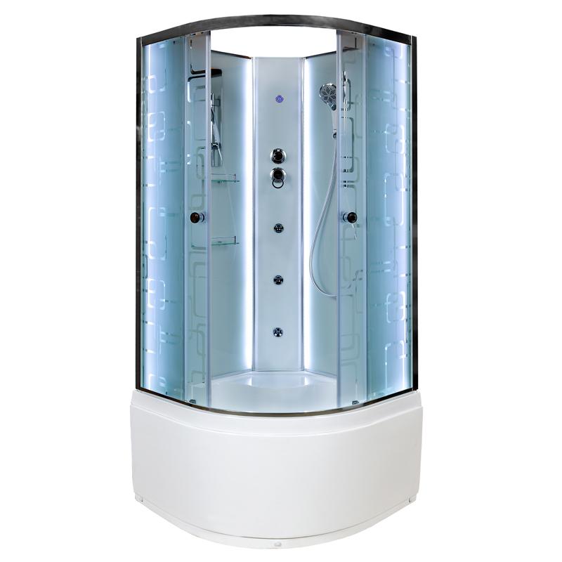 Душевая кабина Deto ЕМ4580 N LED с гм. 800*800*2080