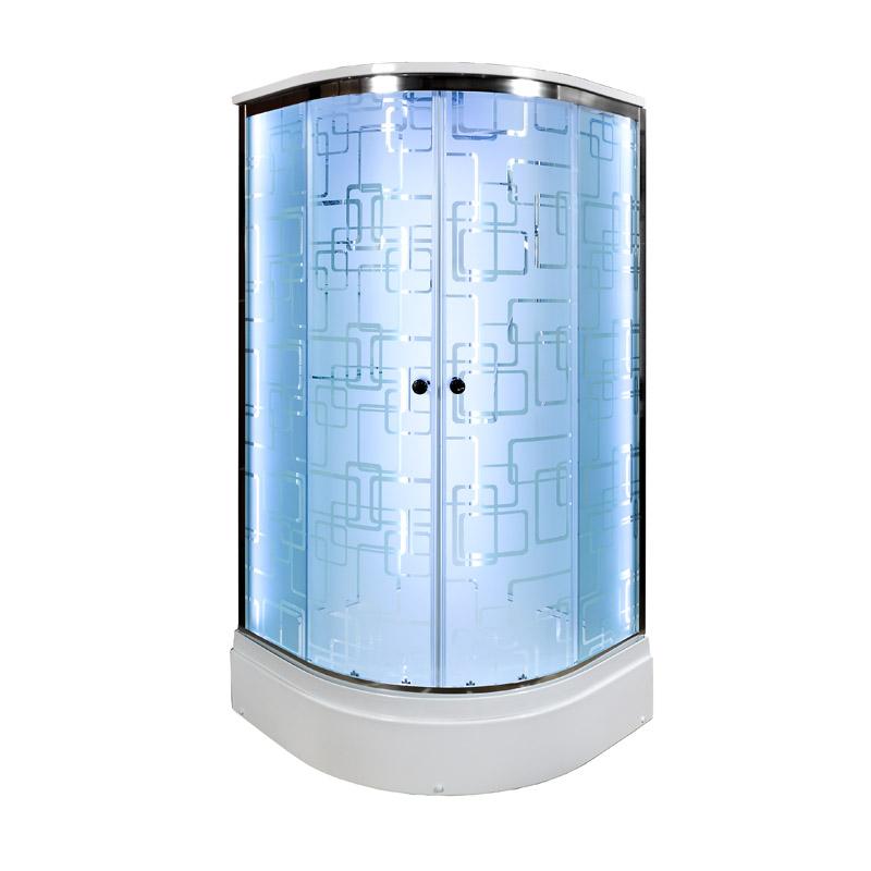 Душевая кабина Deto ЕМ2790 LED с гм. 900*900*2200
