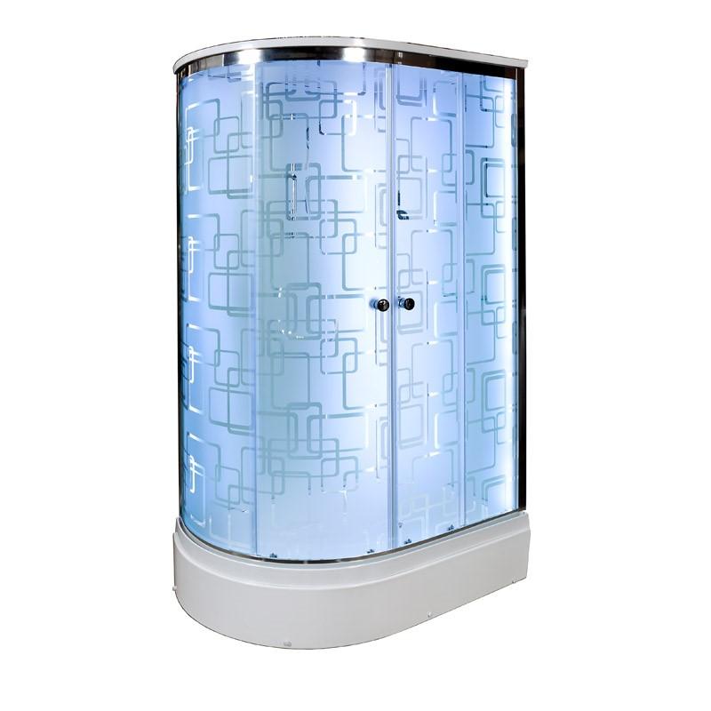 Душевая кабина Deto ЕМ2712 R LED 1200*800*2200