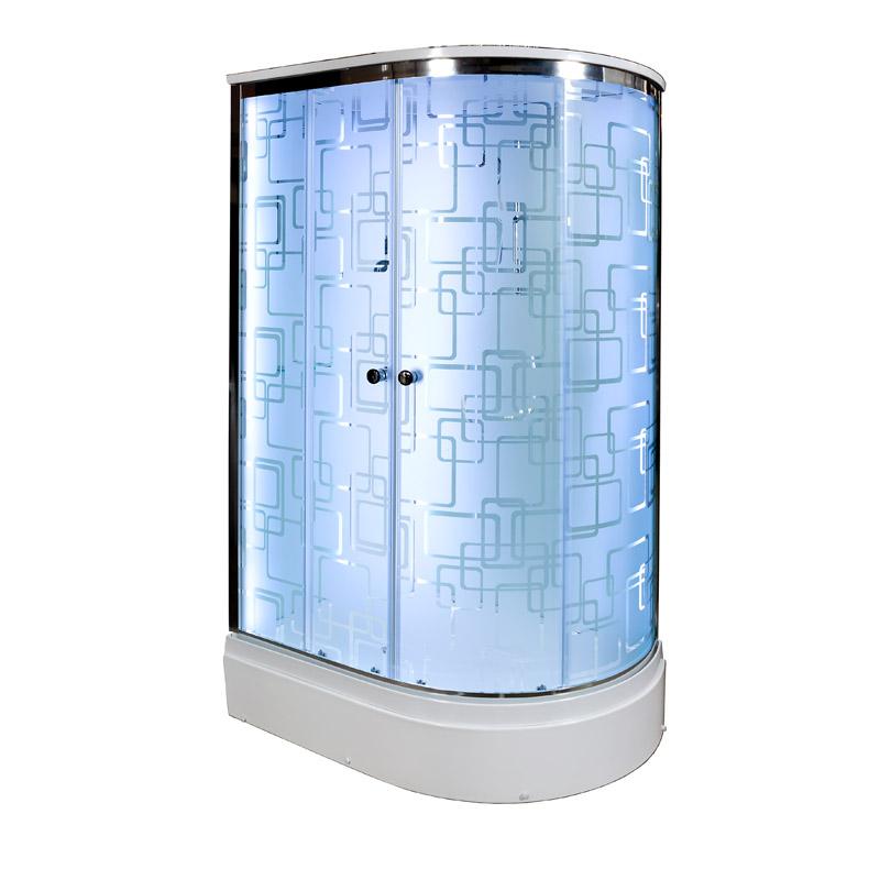 Душевая кабина Deto ЕМ2712 L LED 1200*800*2200