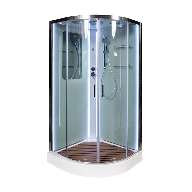 Душевая кабина Deto А01 LED с кнопкой 1000*1000*2200