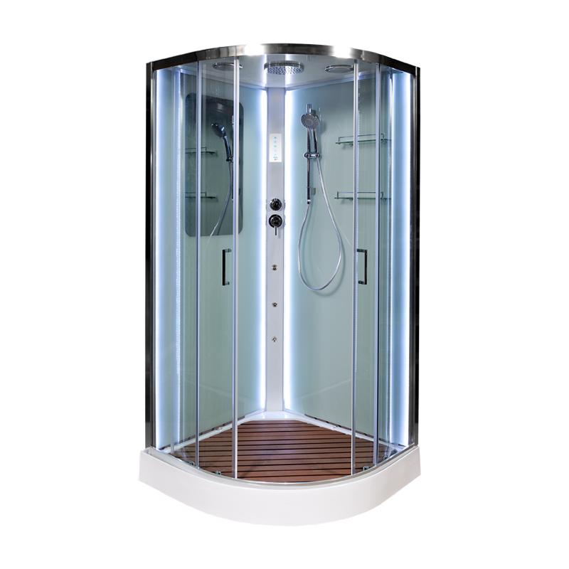 Душевая кабина Deto А01 с LED и гидромассажем 1000*1000*2200
