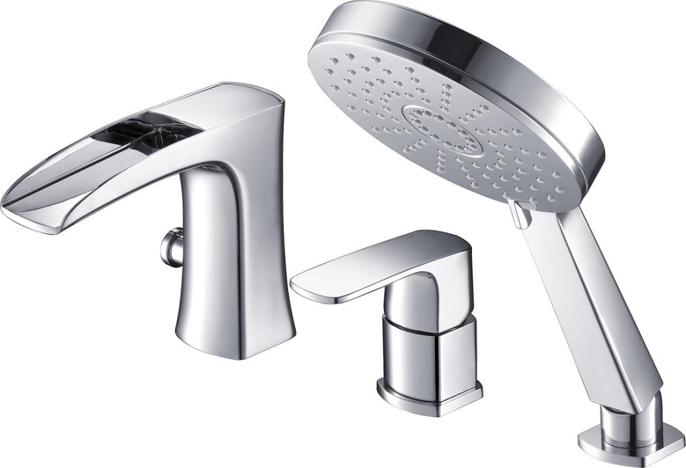 Смеситель для ванны с душем, врезной, каскадный Timo Lumi 4210/00Y chrome