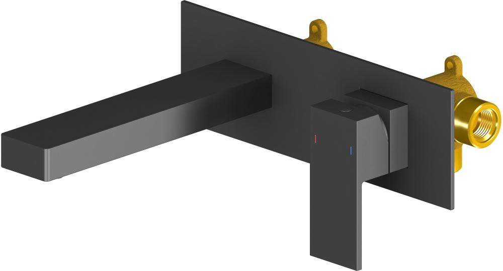 Смеситель для раковины встроенный Timo Selene 2071/03SM black