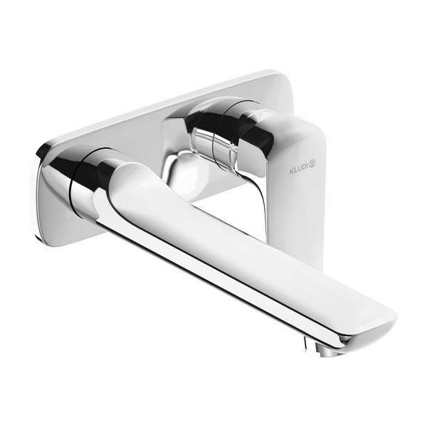 KLUDI AMEO настенный смеситель для умывальника,  внешняя монтажная часть, длина излива 235 мм, арт. 412450575