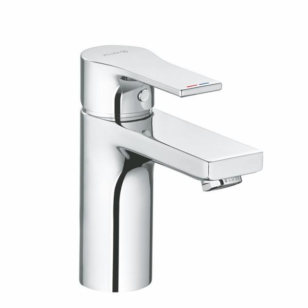KLUDI ZENTA SL Однорычажный смеситель для раковины 100, донный клапан PUSH-OPEN, арт. 482980565