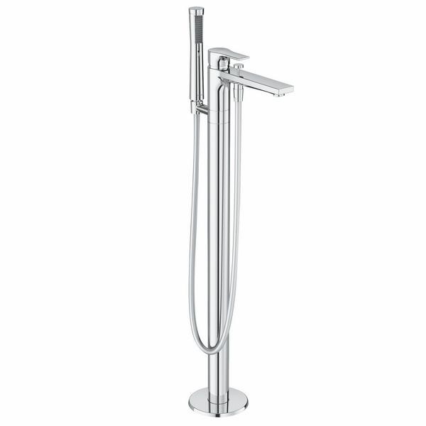 KLUDI ZENTA SL Однорычажный смеситель для ванны и душа DN 15, для отдельно стоящих ванн, арт. 485900565