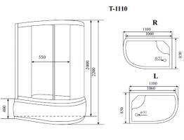 Timo Standart душевая кабина T-1110 L_2