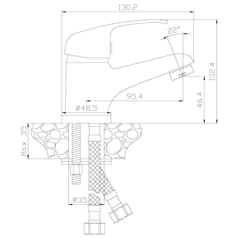 Смеситель Rossinka Y35-11 для раковины