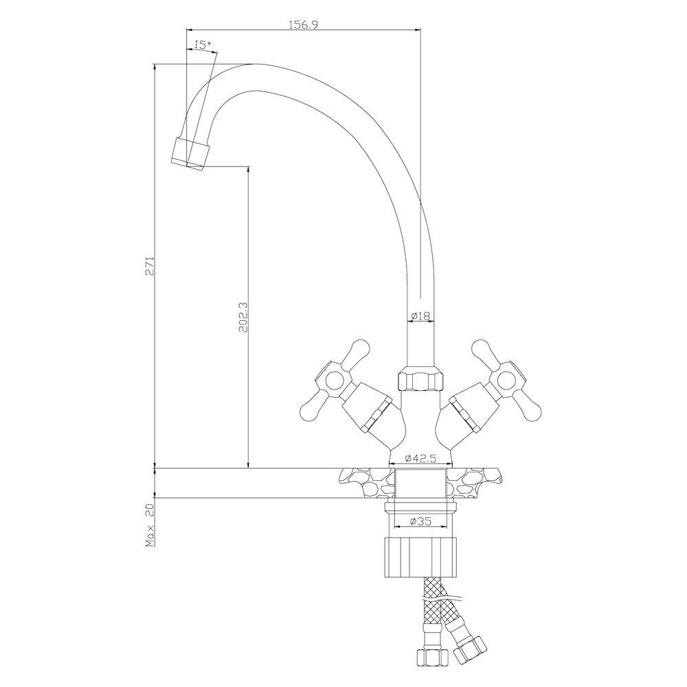 Смеситель Rossinka Y02-71U для кухни