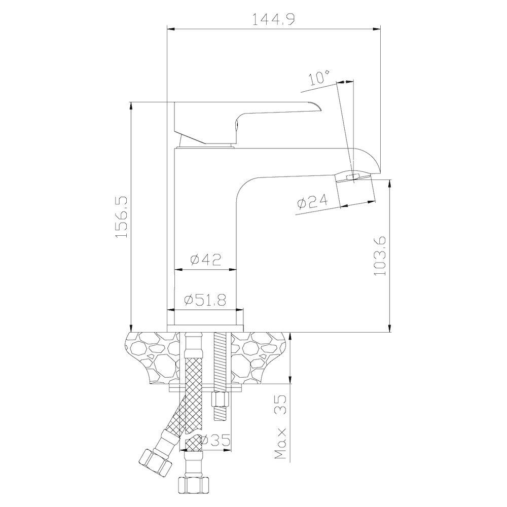 Смеситель Rossinka W35-12 для раковины