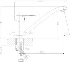 Смеситель Rossinka S35-21 для кухни_2