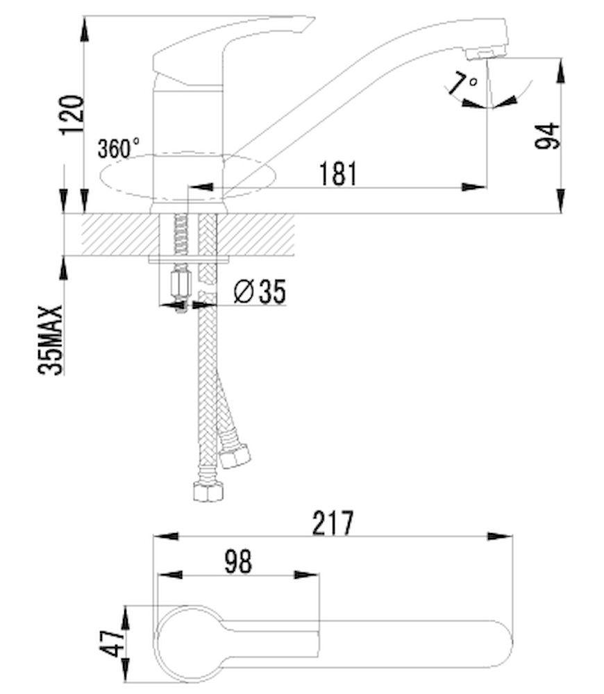 Смеситель Lemark Plus Strike LM1104C для кухни