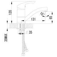 Смеситель Lemark Plus Strike LM1107C для раковины_1