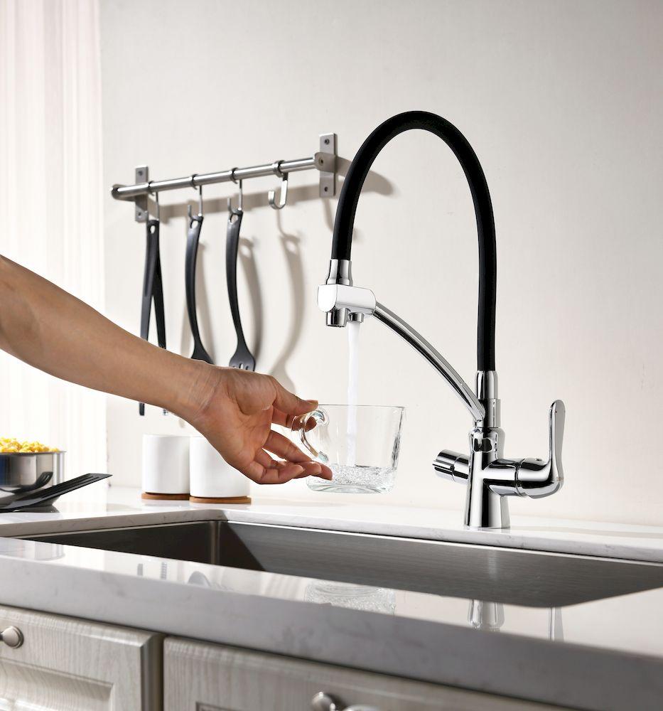 Смеситель Lemark Comfort LM3070C для кухни  с подключением к фильтру с питьевой водой