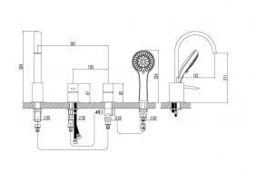Смеситель Lemark Atlantiss LM3241C на борт ванны_1