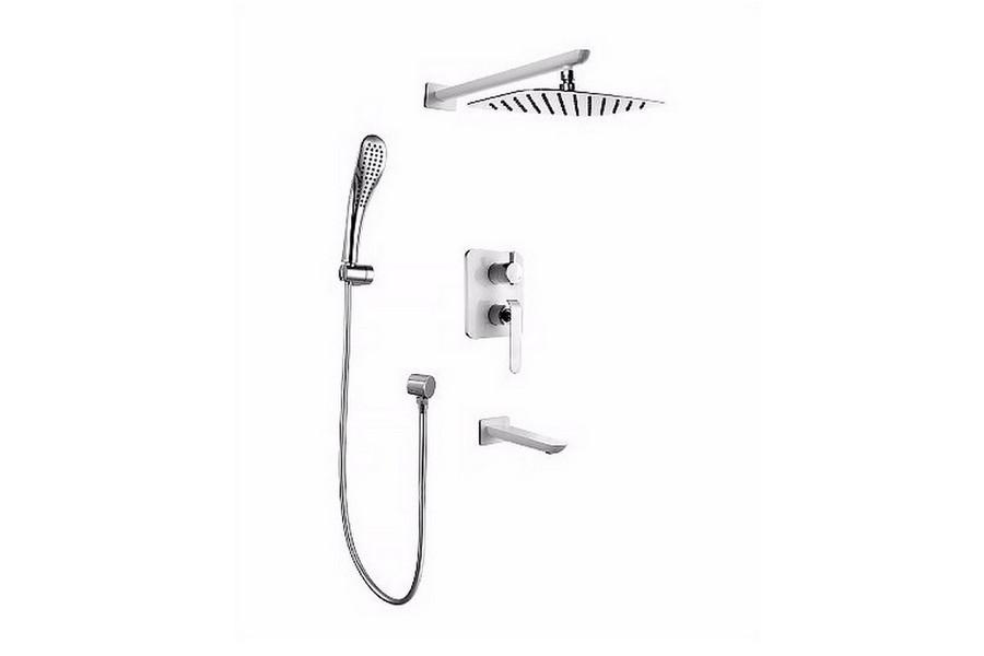 Смеситель Lemark Melange LM4922CW для ванны и душа, встраиваемый
