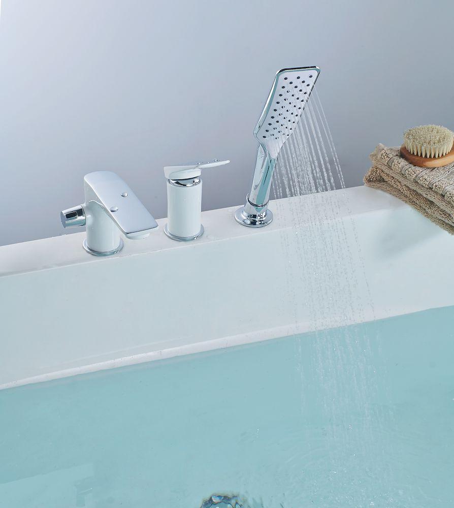 Смеситель Lemark Allegro LM5945CW на борт ванны, встраиваемый