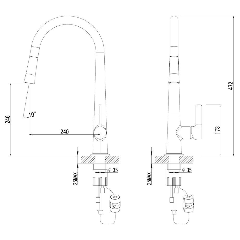 Смеситель Lemark Soul LM6001C для кухни