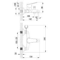 Смеситель  Lemark Partner LM6552C  для ванны_1